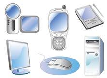 symbolsteknologivektor stock illustrationer