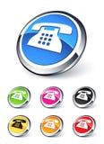 symbolstelefon stock illustrationer