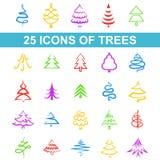 Symbolsträd stock illustrationer