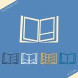 Symbolsuppsättning av lägefoto på sidaphotobook Vektor Illustrationer