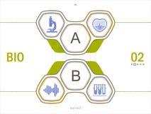 Symbolsuppsättning av vetenskapstecken Plan design Royaltyfri Foto