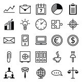 Symbolsuppsättning en affär och ett kontor stock illustrationer