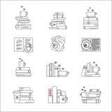 Symbolsuppsättning för bokfans Royaltyfri Foto