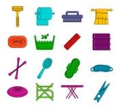 Symbolsuppsättning för personlig hygien, färgöversiktsstil vektor illustrationer