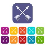 Symbolsuppsättning för pilar LGBT Royaltyfri Fotografi