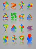Symbolsuppsättning för rengöringsdukapplikationer; Internet & Website Royaltyfri Bild