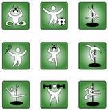 Symbolsuppsättning med soportsteman vektor illustrationer