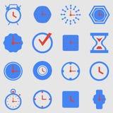 Symbolsuppsättningklockor stock illustrationer