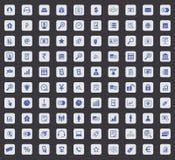 Symbolsuppsättning för 100 B2B, fyrkant Royaltyfri Foto
