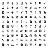 Symbolsuppsättning för bransch 100 för rengöringsduk Royaltyfri Bild