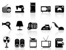 Symbolsuppsättning för hem- anordningar Arkivbild