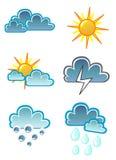 symbolsvektorväder stock illustrationer