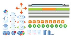 Symbolswebsite Stock Illustrationer