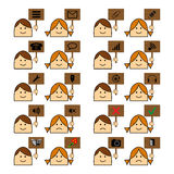 SymbolsWebsite Royaltyfri Illustrationer