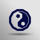 symbolsyang yin Arkivbild