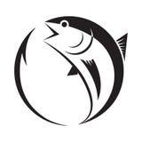 Symboltonfisk och krok, vektor Fotografering för Bildbyråer