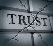 symbolu łamany zaufanie Fotografia Stock