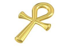 Symbolu ankh 3D Obraz Stock