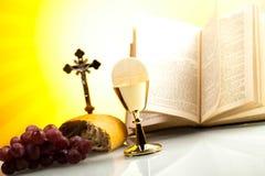 Symbolu chrześcijaństwa religia, jaskrawy tło, naszły conce obrazy royalty free