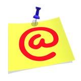 symbolu e - mail Fotografia Royalty Free