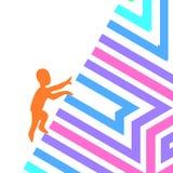 Symbolu loga motywacja i pokonywanie przeszkody Zdjęcie Royalty Free