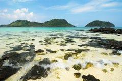 Symbolu miejsce Kai wyspa, Satun Zdjęcie Royalty Free