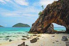Symbolu miejsce Kai wyspa, Satun Fotografia Royalty Free
