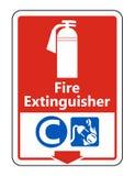 Symbolu Pożarniczego gasidła C znak na białym tle, Wektorowa ilustracja ilustracji