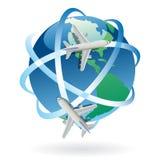 symbolu podróży wektor na całym świecie Zdjęcia Royalty Free