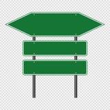 symbolu ruchu drogowego Zielony znak, drogi deski znaki odizolowywający na przejrzystym tle 10 eps ilustracyjny osłony wektor ilustracja wektor