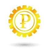 Symbolu złota ruble Zdjęcia Stock