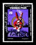 Symbolu zwycięstwo, konferencja awangardy przyjęcia seria około 1978, zdjęcia royalty free