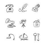 Symboluppsättning Fotografering för Bildbyråer