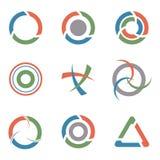 Symboluppsättning, vektorillustration Royaltyfria Bilder