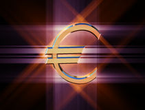 Symbolvalutaeuro stock illustrationer