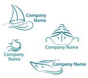 symbolyacht royaltyfri illustrationer