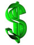 symbool 002 3D bij groene 9000 Stock Afbeelding