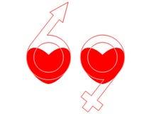 symbool 69 stock illustratie