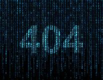 symbool 404 Royalty-vrije Stock Fotografie
