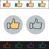 Symbool als De vectorillustratie van het vingerpictogram Vlakke Hand als stock illustratie