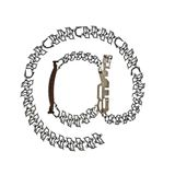 Symbool ` bij `-teken, symbool voor e-mail of ` @ `, van metaaldelen wordt geassembleerd dat Royalty-vrije Stock Foto