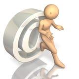 Symbool dat het e-mailadres vertegenwoordigt Stock Foto