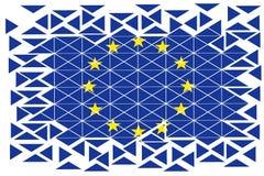 Symbool Europese alliantie in geometrische cijfers royalty-vrije illustratie