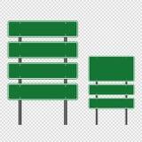 symbool Groene die verkeersteken, de tekens van de Wegraad op transparante achtergrond worden geïsoleerd Vector illustratie Eps 1 stock illustratie