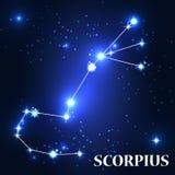 Symbool Het Teken van de Scorpiusdierenriem Vector illustratie Royalty-vrije Stock Afbeeldingen