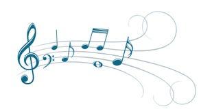 Symbool met muzieknota's vector illustratie