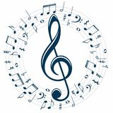 Symbool met muzieknota's royalty-vrije illustratie