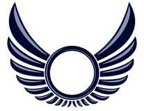 Symbool met vleugels royalty-vrije illustratie