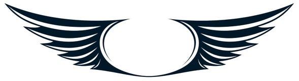 Symbool met vleugels vector illustratie