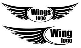 Symbool met vleugels stock illustratie
